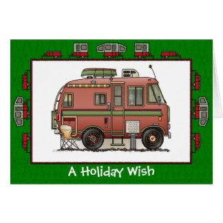 Cartão Desejo do feriado do campista rv de Travco
