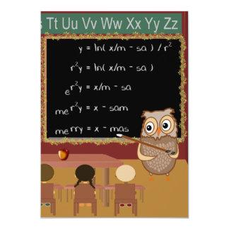 Cartão Desejo do Natal da matemática