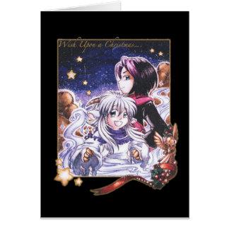 Cartão Desejo em cima de um Natal