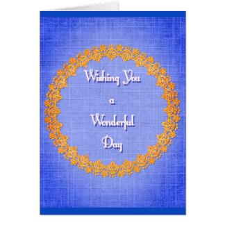 Cartão Desejo maravilhoso