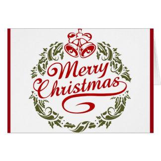 Cartão Desejo retro do Natal