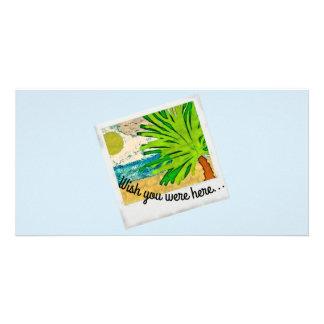 Cartão Desejo você estava aqui imagem