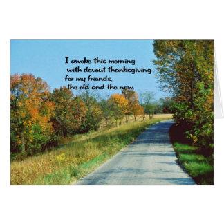 Cartão Desejos da acção de graças