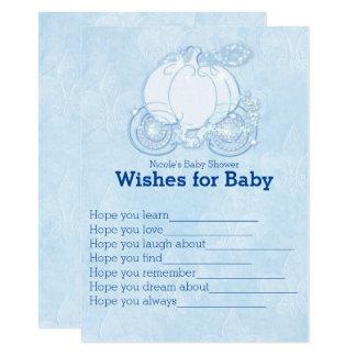 Cartão Desejos da carruagem de Cinderella para o jogo do