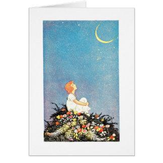Cartão Desejos da lua