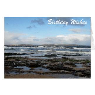Cartão Desejos do aniversário