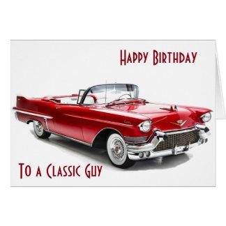 Cartão Desejos do aniversário do ESTILO de CADILAC a uma