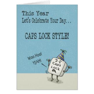 Cartão Desejos do aniversário, estilo do fechamento de