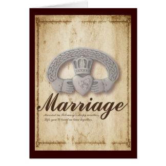 Cartão Desejos do casamento de fevereiro