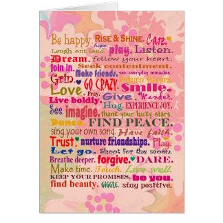 Cartão desejos do feliz aniversario
