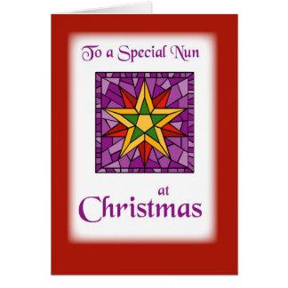 Cartão Desejos do Natal à freira