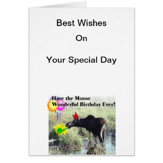 Cartão Desejos dos alces em seu aniversário