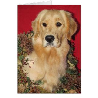 Cartão Desejos dourados do feriado