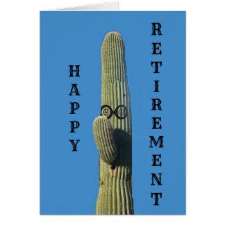 Cartão Desejos engraçados da aposentadoria do cacto