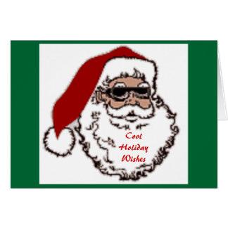 Cartão Desejos legal do feriado