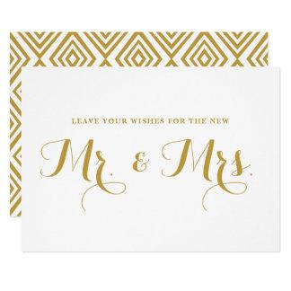 Cartão Desejos modernos da caligrafia do ouro para o Sr.