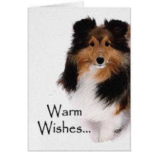 Cartão Desejos mornos de Sheltie