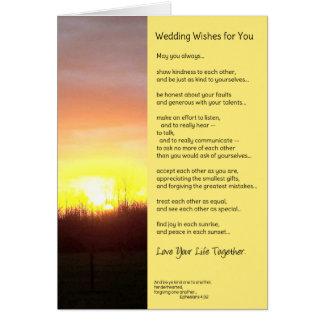 Cartão Desejos Wedding para você