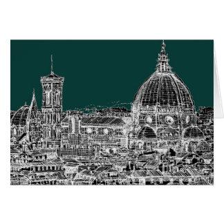 Cartão Desenho da arquitetura de Florença
