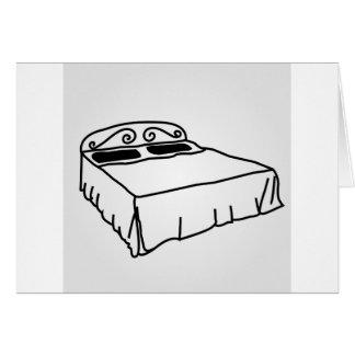 Cartão Desenho da mobília do quarto