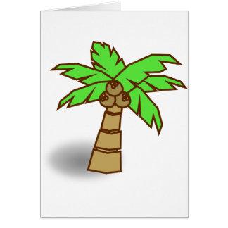 Cartão Desenho da palmeira