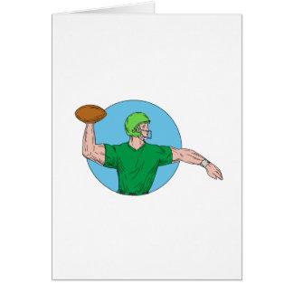 Cartão Desenho de jogo do círculo da bola do estratego QB