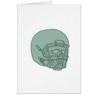 Cartão Desenho do crânio do estratego do futebol