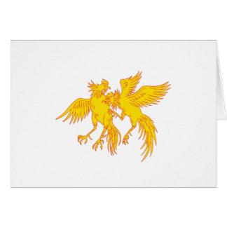 Cartão Desenho do galo novo dos galos do Cockfighting
