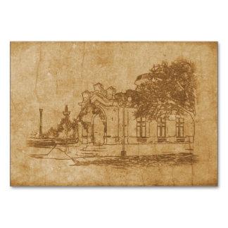 Cartão Desenho do vintage da construção