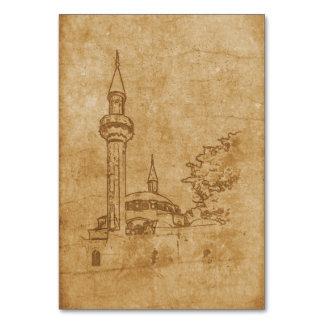 Cartão Desenho do vintage da mesquita de Juma-Jami