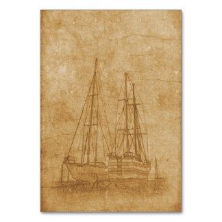 Cartão Desenho do vintage do yacht club