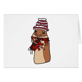 Cartão Desenho dos desenhos animados do Gerbil do hamster