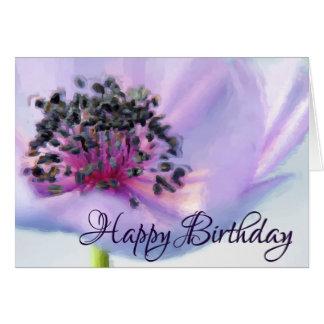 Cartão Desenho Pastel do Fim-acima bonito da flor do