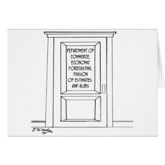 Cartão Desenhos animados 3781 da economia