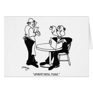 Cartão Desenhos animados 4334 do restaurante