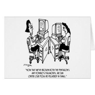Cartão Desenhos animados 4348 da segurança