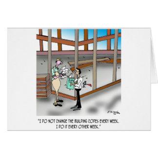 Cartão Desenhos animados 6382 do inspector