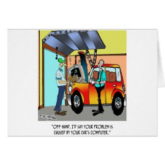 Cartão Desenhos animados 8532 do reparo do carro