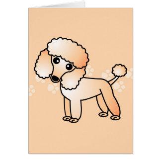 Cartão Desenhos animados bonitos da caniche do abricó