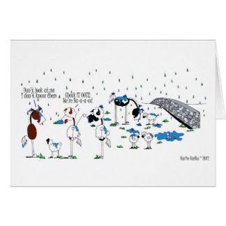 Cartão Desenhos animados bonitos do cavalo & dos