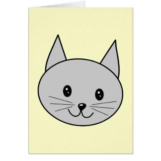 Cartão Desenhos animados cinzentos do gato