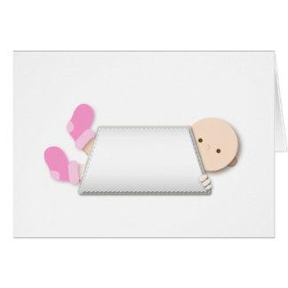 Cartão Desenhos animados cor-de-rosa dos montantes do