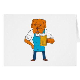 Cartão Desenhos animados da mascote da caneca do