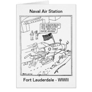 Cartão Desenhos animados de Bush da bandeira
