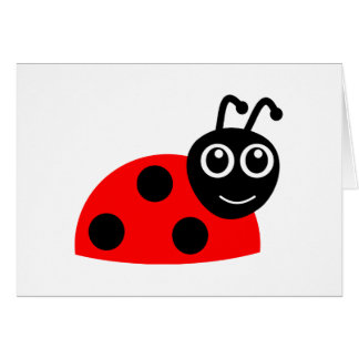 Cartão Desenhos animados de sorriso bonitos do joaninha