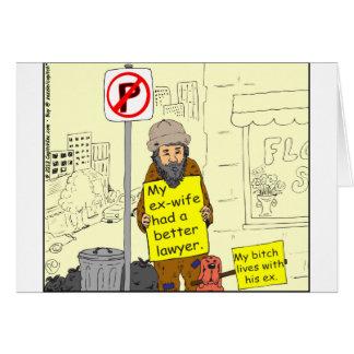 Cartão desenhos animados do advogado da esposa 427 ex