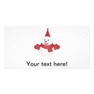 Cartão Desenhos animados do boneco de neve