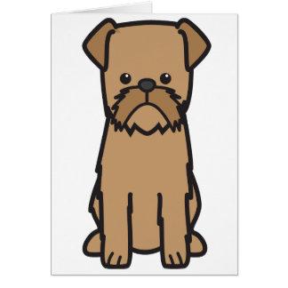 Cartão Desenhos animados do cão de Bruxelas Griffon