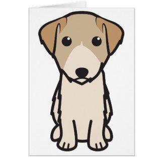 Cartão Desenhos animados do cão de Lucas Terrier