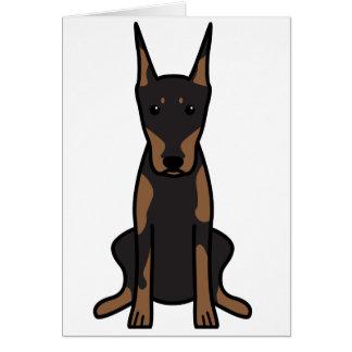 Cartão Desenhos animados do cão do Pinscher do Doberman